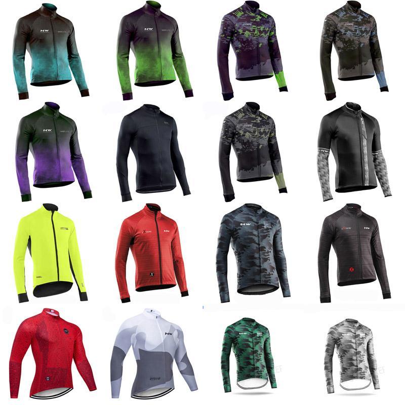 2020 NW équipe hommes cyclisme manches longues Jersey vêtements de vélos de course en tête Bike Quick Dry Sportwear G62065