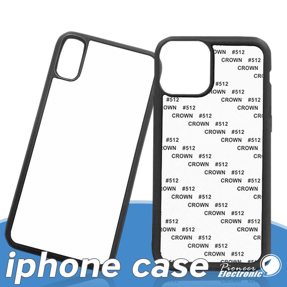 Leerer 2D-Sublimationsfall TPU + PC-Wärmeübertragung Telefonhüllen Abdeckung für iPhone 12 Mini 11 PRO 7 8 8PLUS X XS XR xs max mit Aluminiumeinsätzen
