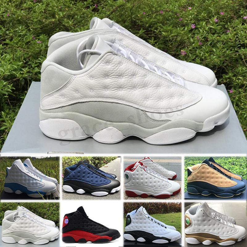 NIKE Air Jordan 13 Retro New 13 reverso Ele obteve a jogo ilha verde Bred Chicago Flint Men Basquete Calçados 13s Melo DMP Playoff Hiper Real Women Sports Sneakers PP03