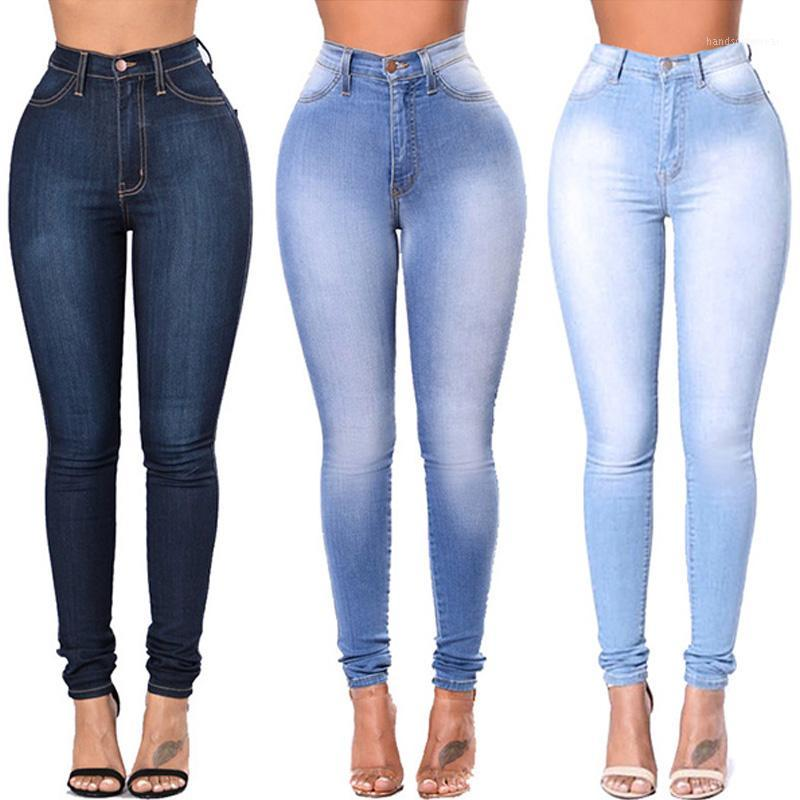 Jeggings Jeans For Women Blue Jeans High Waist Elastic Stretch Ladies Female Washed Denim Skinny Pencil Pants S-3XL1