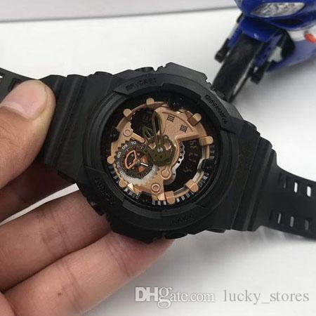 أزياء الرجل الساعات الرقمية العسكرية الجيش رجال العلامة التجارية مصمم ساعة المعصم الشهيرة على مدار الساعة GA300 montre أوم على الانترنت