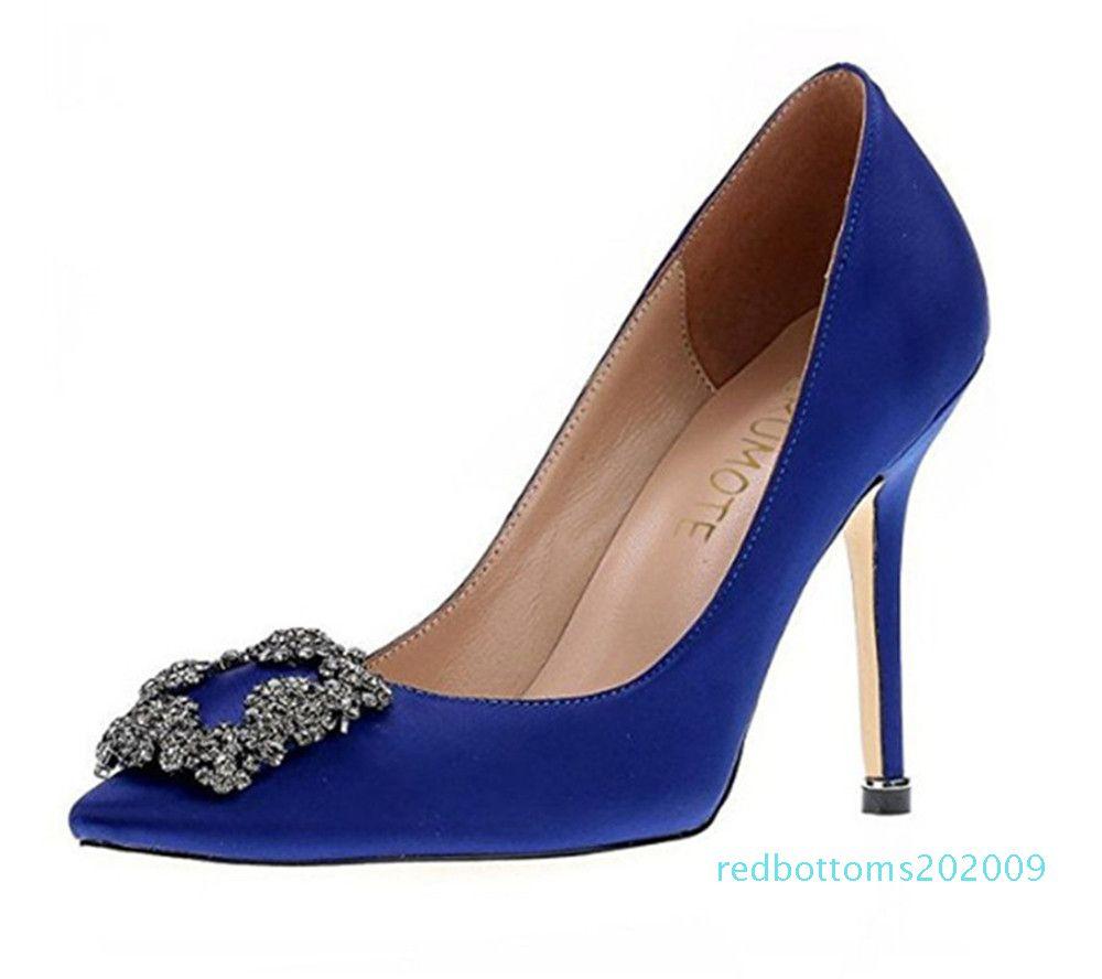 NEW italy brand Mercerized denim genuine SILK wedding silver Rhinestone High heels women&039;s Shoe wedding bmen Shoes sapato feminino r09
