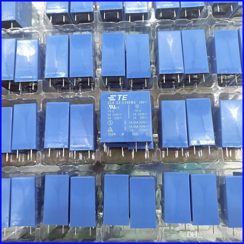 무료 배송 (5pieces / 많은) 100 % 원래 새로운 TE TYCO OEG OSA-SS-224DM5 OSA-SH-224DM5 6PINS 5A 24VDC 전원 릴레이