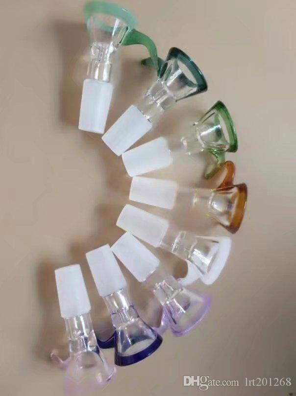 conector gancho cor nova alta qualidade, Tubos New Único vidro Bongos de vidro tubulações de água Hookah plataformas petrolíferas Fumo com Drope