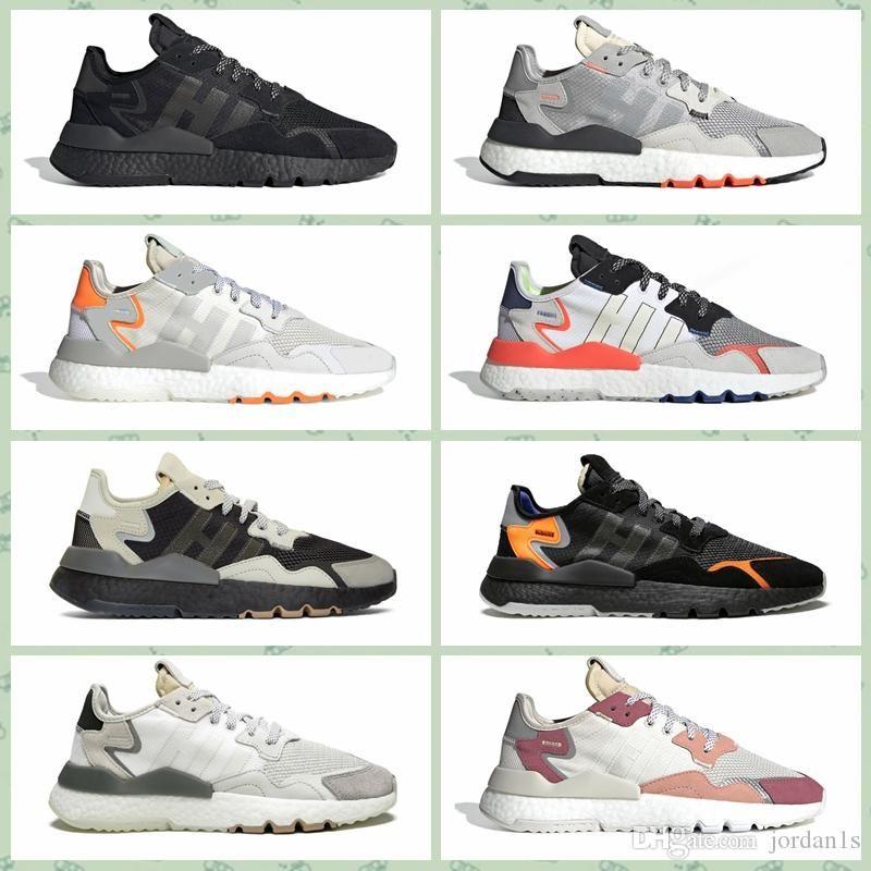 ANJB0A 2019 Sıcak koşu ayakkabıları varış Jogging Yapan 3 M Yansıtıcı koşu ayakkabı kalite marka nefes spor ayakkabı erkek kadın sneaker s
