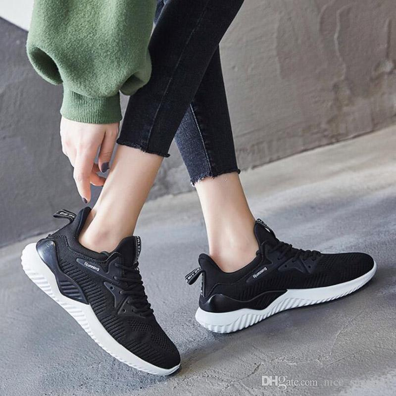 Femmes Casual Sneaker Pure White Tout-Match Mode Femmes Outdoor Tissu Chaussures Triple Noir Rose Mesh Sneakers Taille 36-39