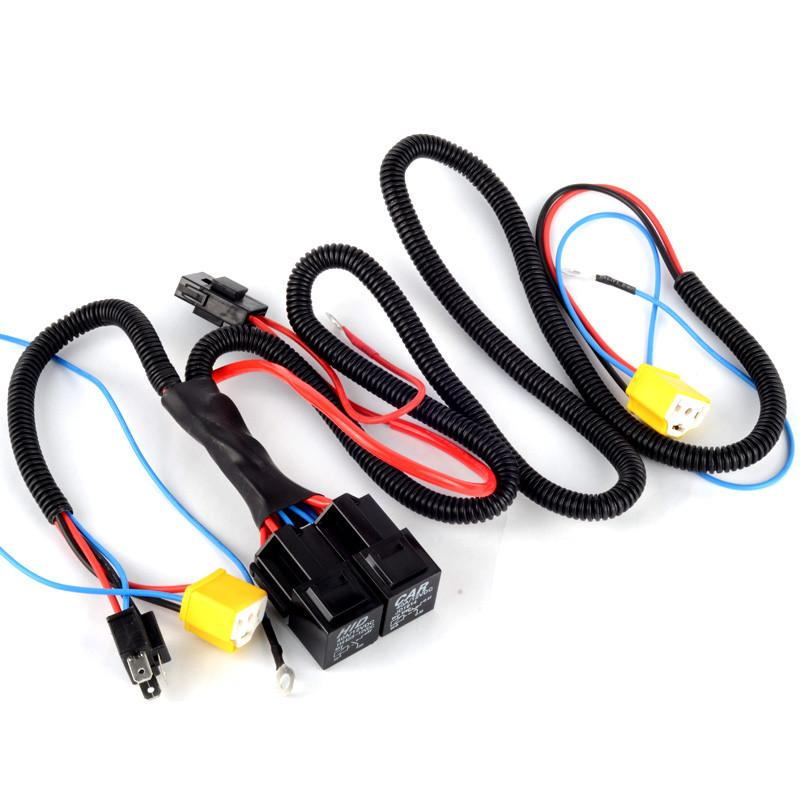 onnectors & Terminals Connectors H4/9003 Headlight Booster Cable Wire Harness Connector Relay Fuse Socket Black H4 Headlight Connecto...