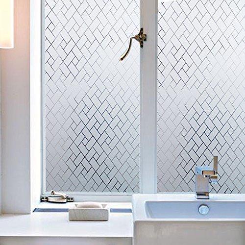 Privacidad WXSHSH esmerilado decorativo lámina para ventanas estático Cling etiquetas autoadhesivas de vidrio control de bloqueo de calor de vinilo ventana de la tapa