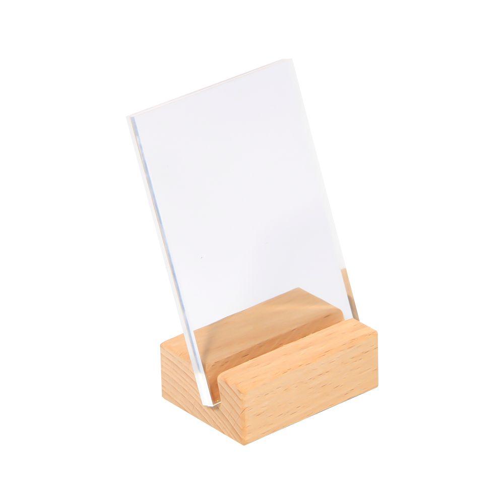 90 * 60 ملليمتر المنحدر تسجيل حامل إطار خشبي الجدول صور حامل اسم بطاقة اسم العلامة حامل الإطار منحرف الطائرة مكتب تسجيل حامل عرض الرف