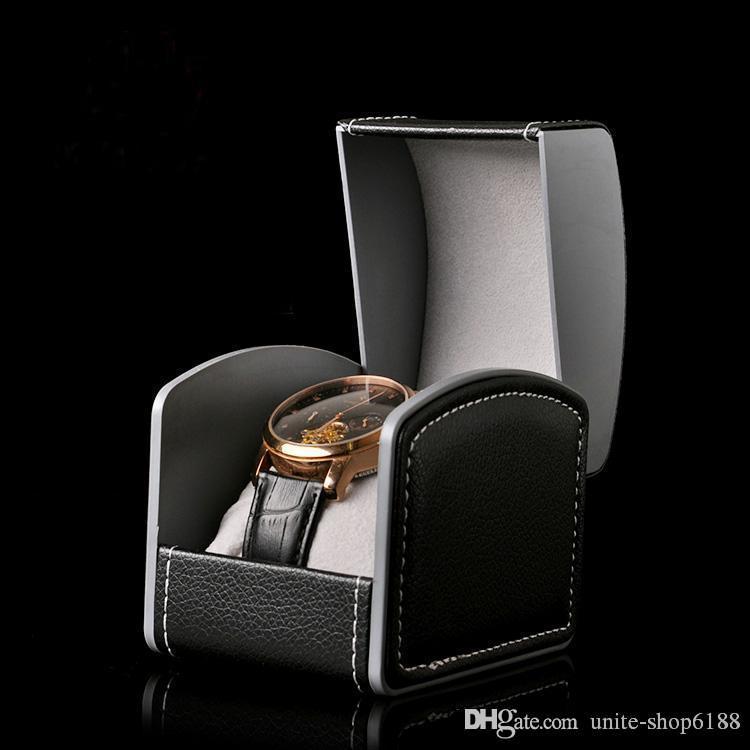 Высококачественные часы Box PU Часы коробки кожаные часы коробки красные черные часы