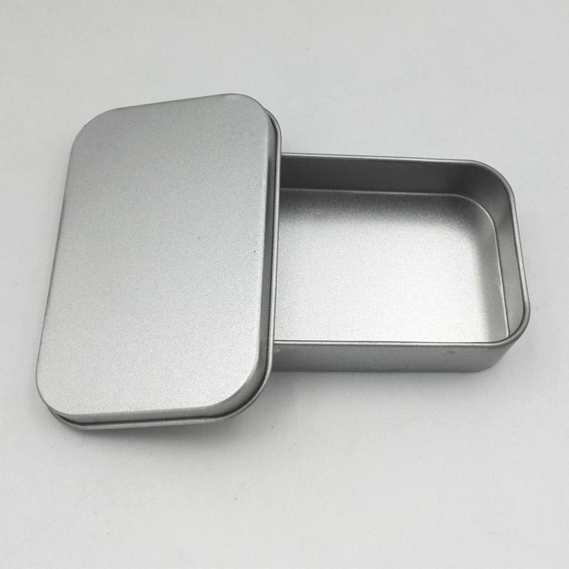 إفراغ القصدير صندوق معدني حالة صندوق تخزين للعملة كاندي مفاتيح U القرص سماعات منظم