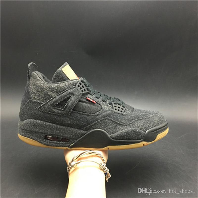 Aria 4 Nero AO2571-001 4s Scarpe IV Kicks Donna Uomo Pallacanestro Sport Sneakers Top Quality Formatori