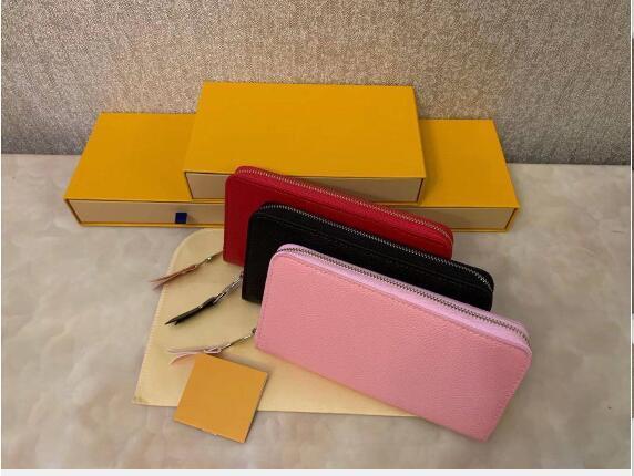 مجانا 3 ألوان الموضة سستة واحد مصمم الرجال النساء تنقش الجلود محفظة سيدة السيدات طويل محفظة أي مربع
