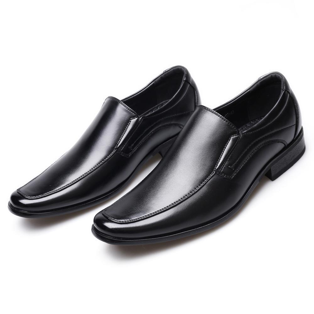 Классические деловые мужские туфли модные элегантные вечерние свадебные туфли мужчины скольжения на офис оксфорд обувь для мужчин 458