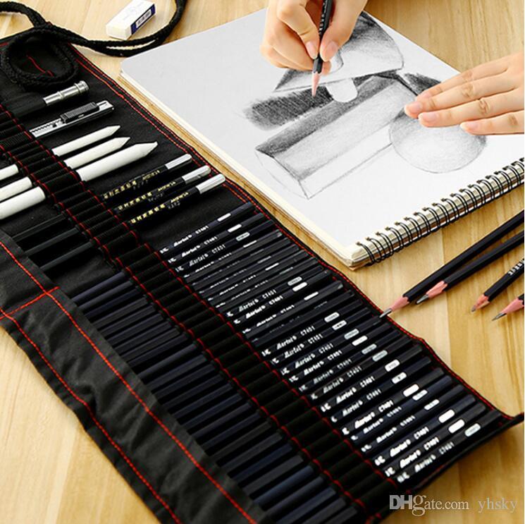 2020 Maries Sketch Pencil Set Beginner 2b4b Adult Painting Tools Pen Sketch Pen Children Pencil Drawing Bag Art Supplies From Yhsky 10 36 Dhgate Com