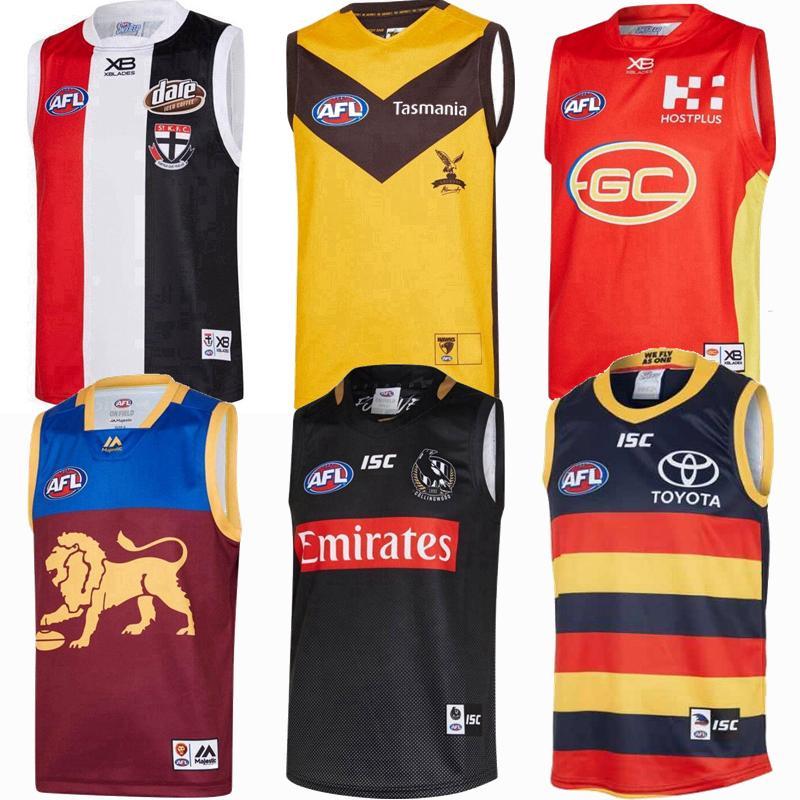 2019 camisa chaleco 2020 2021 Fremantle Dockers Richmond Tigers Gigantes Gatos Essendon Tasmania Lions Rugby jerseys AFL camiseta de Liga