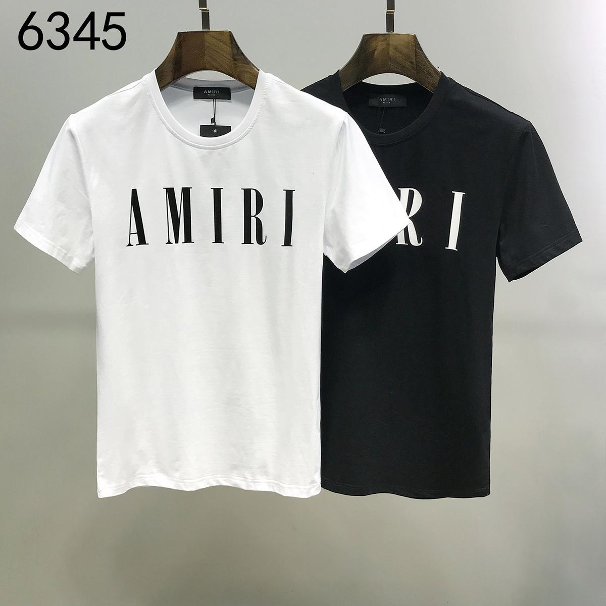 2020 весна лето мужские футболки высокое качество печати с коротким рукавом футболки 20191116-da4390#02163*63_6345