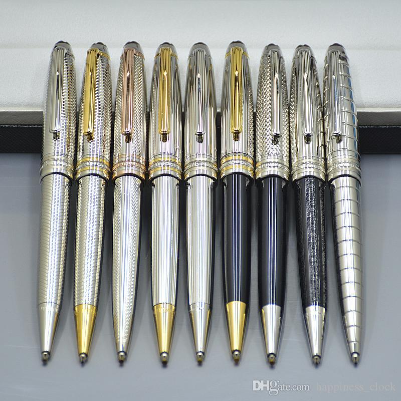 Venda quente - Luxo canetas Monte Meisterstcek 163 Caneta Esferográfica caneta de alta qualidade material de escritório escola com XY2006108 Número de série