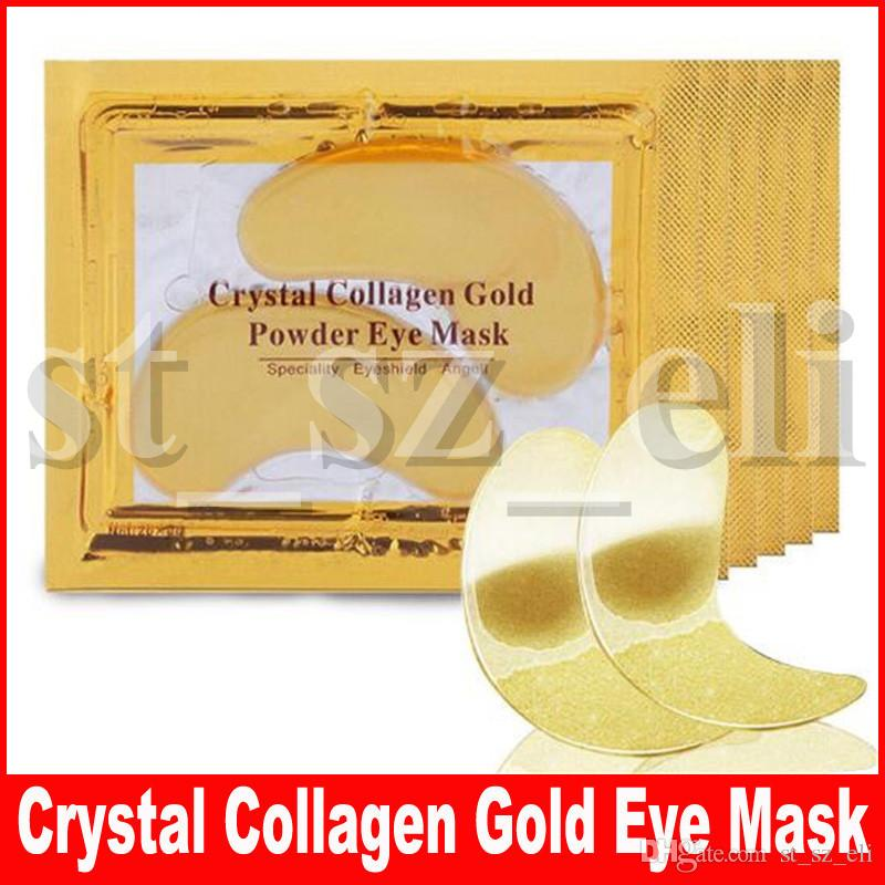 New Collagen Crystal Eye Masks Anti-puffiness moisturizing Eye masks Anti-aging masks collagen gold powder eye patch