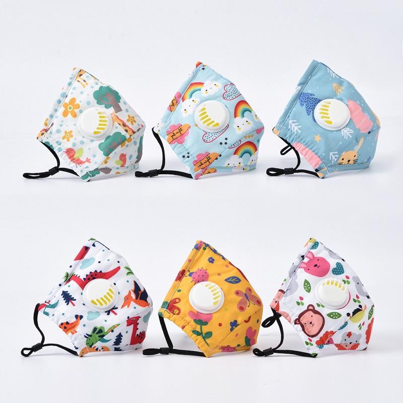 Populares de la manera linda de los niños adultos máscara de impresión máscara contra bruma con la respiración del oído válvula colgando DHB260 máscara