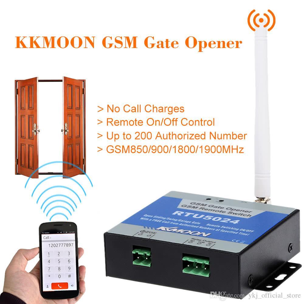 Беспроводной GSM Реле открывания ворот ворот Пульт дистанционного управления Включение / выключение бесплатного вызова для жалюзи Электрические распашные раздвижные двери гаража