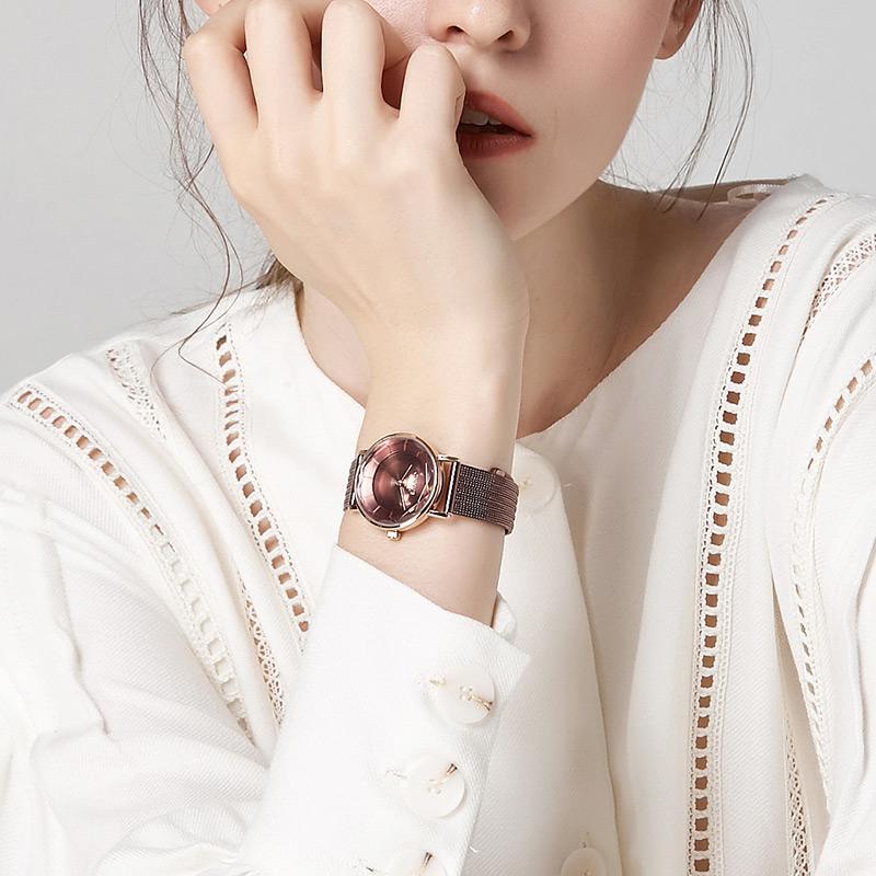 delle donne movimento al quarzo giapponese stile classico cinturino in custodia in pelle in acciaio inox orologi di lusso profondo impermeabile montre de luxe JA-1129