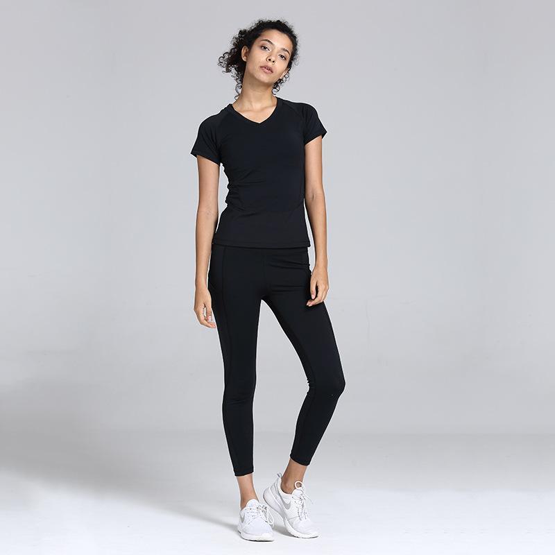 Hızlı Kuru Spor Giyim KADIN Suit Fash Running Yoga Giysileri Kadın Spor İki Parçalı Set 2020 Yeni Stil Avrupa Ve Amerika