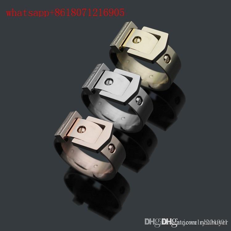2020 стальное кольцо Мода пояса Дизайн Нет Fade 316L нержавеющей стали для мужчин Женщины оптовой известная марка Пара Любовь палец кольцо ювелирные изделия