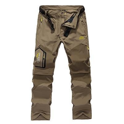 Pantalones extraíbles de secado rápido para hombre Verano al aire libre Marca Cloting Pantalones impermeables masculinos Hombres Senderismo Camping Trekking Pantalones de alta calidad