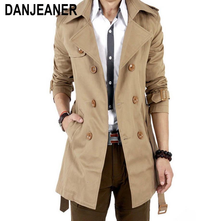 2016 Trench Hommes Classique double boutonnage Hommes Manteau Masculino Vêtements pour hommes Manteaux longs Vestes British style OvercoatLY191112