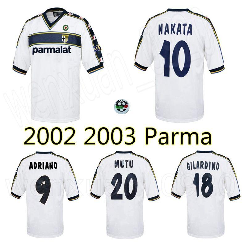 Acquista 2002 2003 Parma Away Retro Soccer Jersey 02 03 Nakata Adriano Gilardino Mutu Vintage Classic Old Football Camicia A 12,93 € Dal Wenxuan_0920 ...