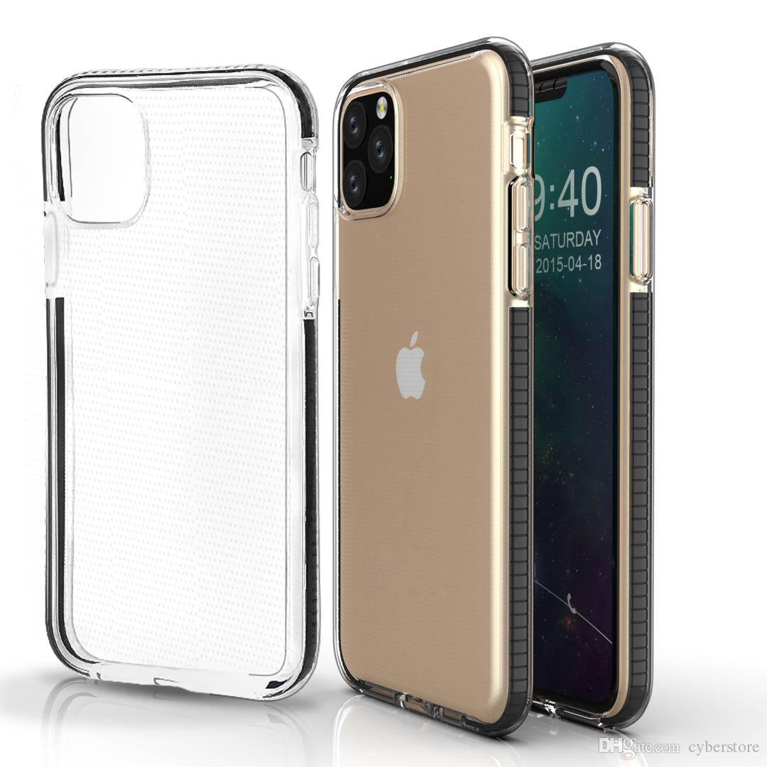 Phone Case Clear TPU Cell Phone Case Dual Color Shockproof Cover For iPhone 11 Xs Max XR 8 Samsung S10 Plus Note 10