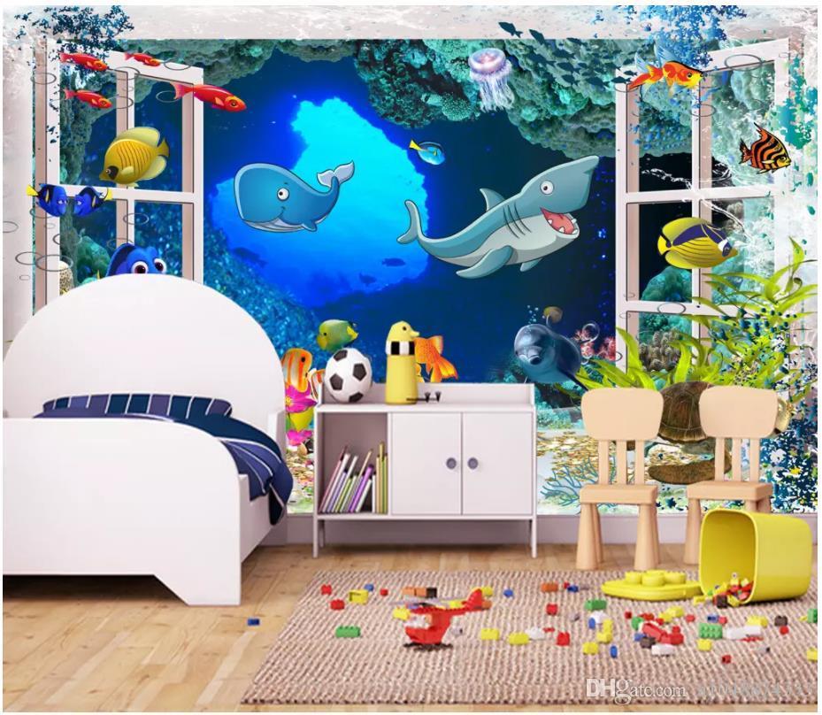 3d tapeten benutzerdefinierte foto Seidentapeten wandbild 3d fantasie cartoon kinderzimmer cartoon kinderzimmer wandbild home deocr papel de parede
