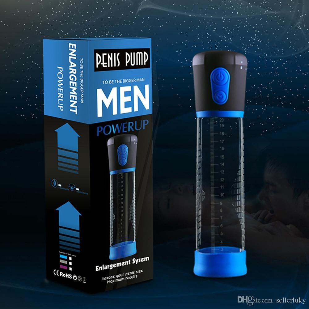 Ampliación de la bomba de pene eléctrica automática Bomba de vacío Prolong Enhancer Amplificador del pene Extensor adulto del sexo para hombres Gays