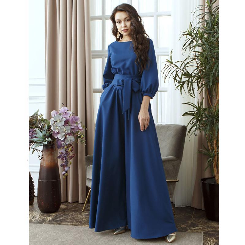 2019 Sonbahar Kadın Casual Bow Maxi Sashes Elbise Bayanlar Fener Kol Ç Boyun Şık Parti Elbise Katı Moda Bayan Uzun Elbise SH190922