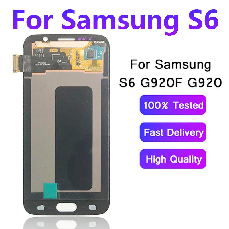 OLED/Original/Super AMOLED LCD For Samsung GALAXY S6 G920 G920F LCD Display Touch Screen Digitizer Assembly