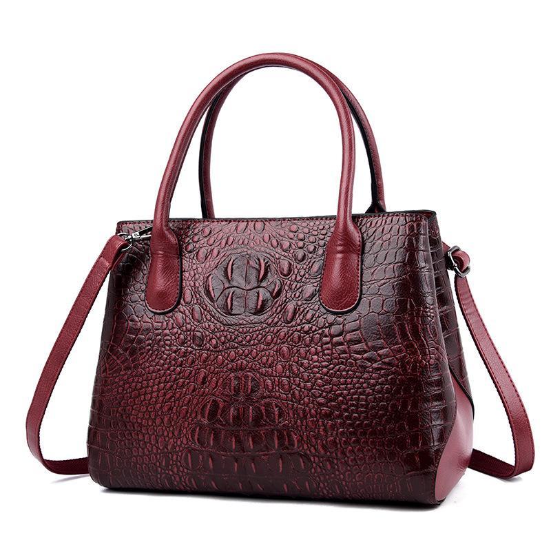 Handtasche Mode-Frauen-Schulter-Beutel-echten Leder-Umhängetasche Tasche für Frauen Frau Damen-große Kapazität Toten Sac A Haupt