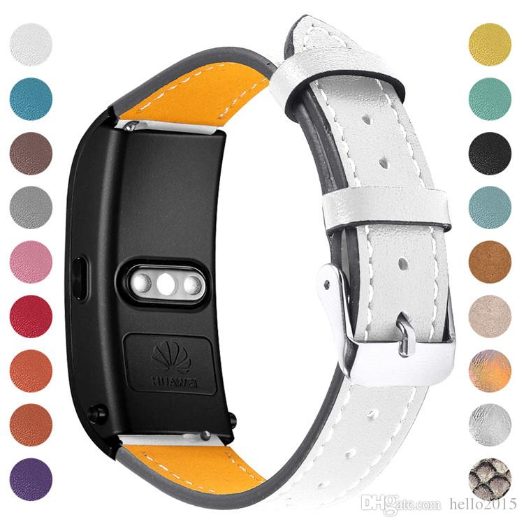 Hot Sale Fashion Watchbands Leather for Man Women Wrist Watch Band Strap Metal Buckle For Huawei Talkband B5 Watch 18 colors