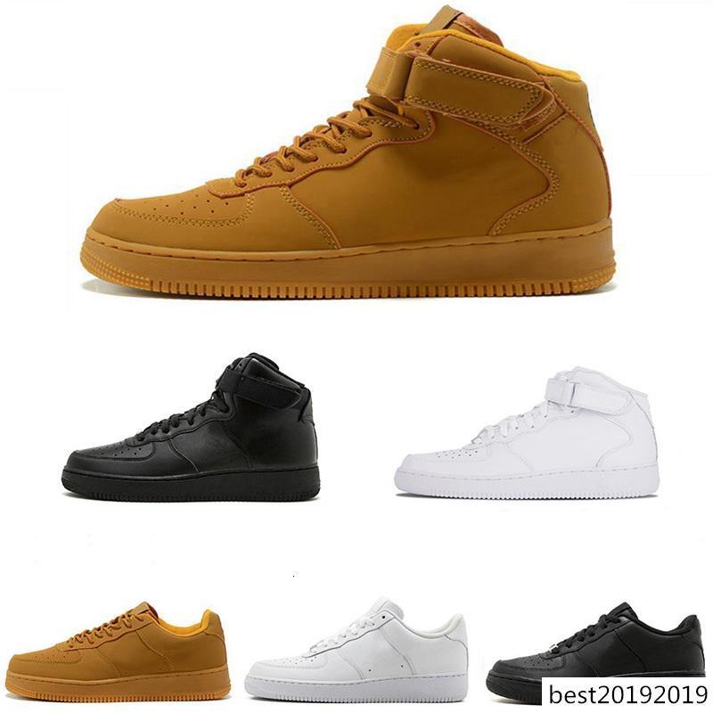 2019 Air Designer Forze Scarpe uomo casual forzata 1 Una calce verde giallo rosso donne degli uomini di moda di lusso piatto Skate Sneaker Sneakers 36-46