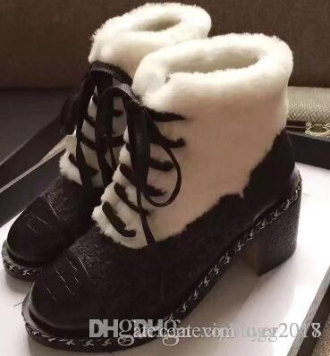 TOP Brand new explosions snow boots low to help straps comfortable women's boots soft face thick bottom must-have thick with stitching