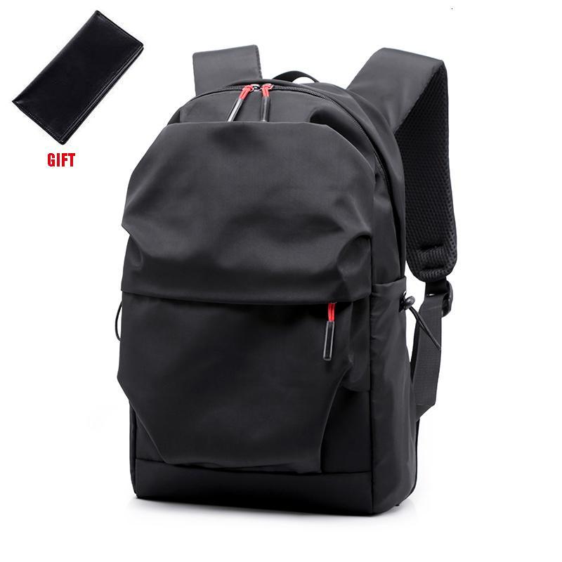 New Men Backpack para 15.0 Polegadas Laptop Back Pack Grande Capacidade Stundet Mochilas plissadas Casual Estilo Bag Repelente de Água 2019 CJ191201