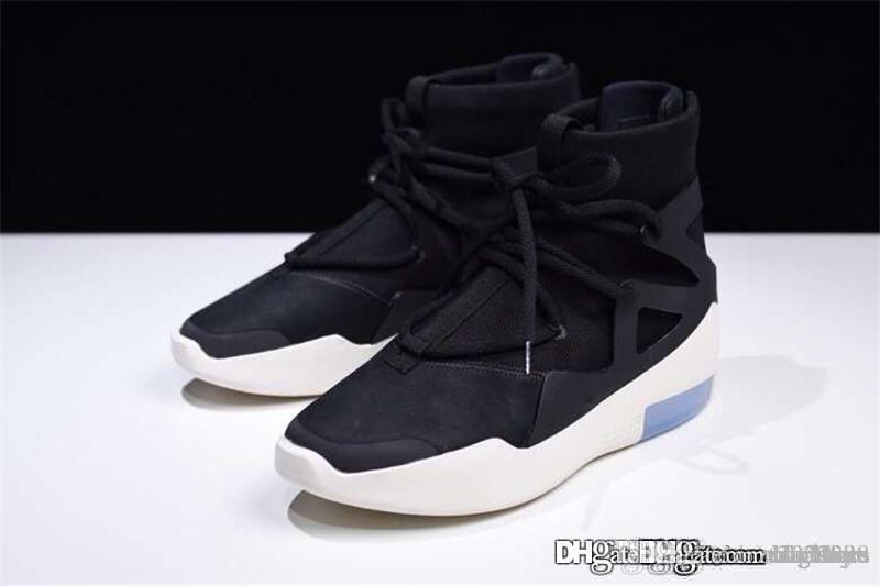 Air 1 Light Bone X Fear Of God FOG White Black AR4237-001 BNIB NWT редкие черные кроссовки Jerry Lorenzo Shoes кроссовки с оригинальной коробкой