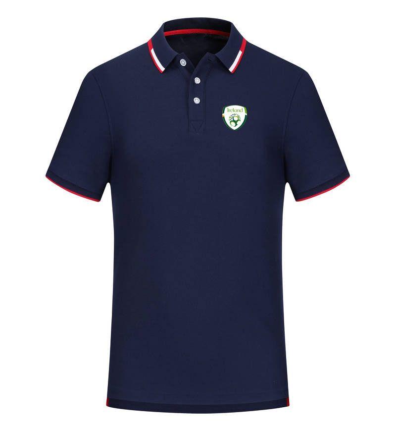 Республика Ирландия 2020 весна и лето новый хлопок футбол поло рубашка мужская с коротким рукавом отворотом поло может быть DIY пользовательские мужские рубашки поло