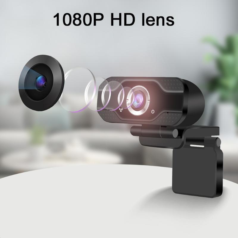HD Webcam Dual-in Dual-in Dual-In Smart 1080P Web caméra USB Pro Stream Caméra pour ordinateurs portables de bureau PC Game Cam pour OS Windows10 / 8 Voiture