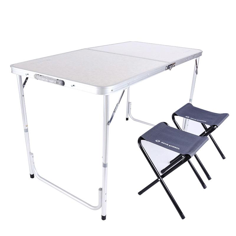 Crystals Portable Foldable 4 Chair Table Set for Kitchen Dining Outdoor Garden Picnic /& Camping by