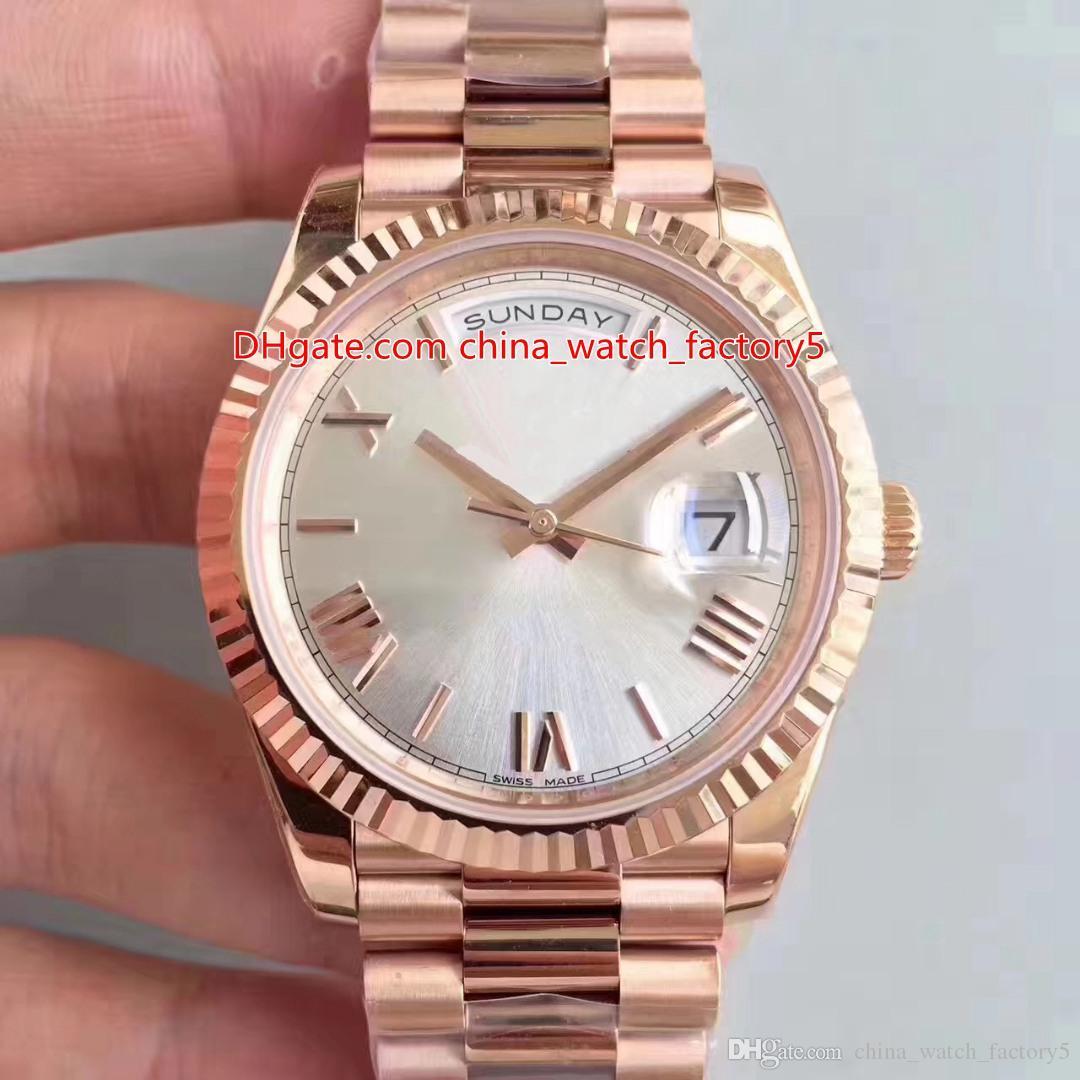 4 en color calidad estupenda V8 N 40mm Day-Date Presidente 228235 romana línea 18K Rose CAL.3255 suizo movimiento automático del reloj para hombre Relojes