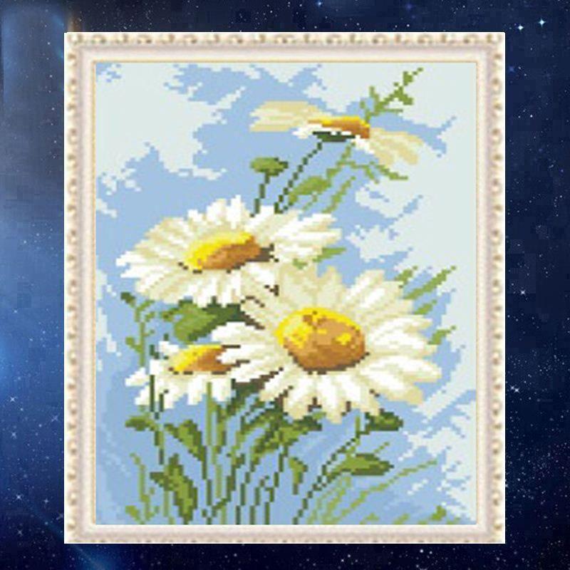 YGS-425 DIY 5D Full Diamonds Embroidery Chrysanthemums Round Diamond Painting Cross Stitch Kits Diamond Mosaic Home Decoration