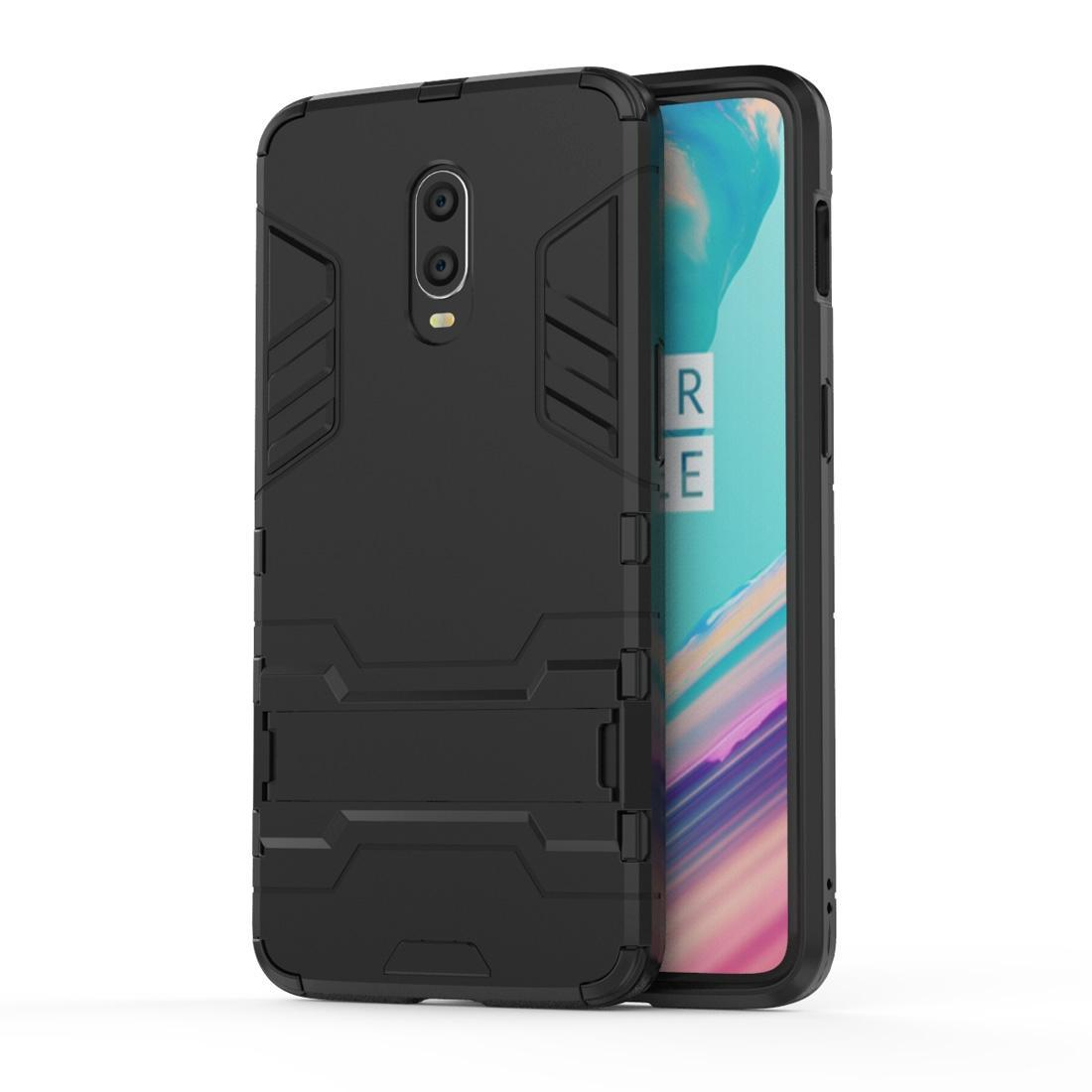 Shockproof PC + TPU Case for OnePlus 6T, with Holder
