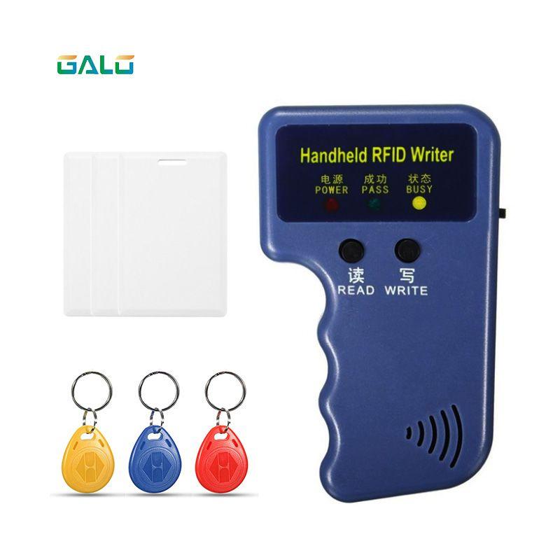 Handheld 125 KHz RFID Copiadora Escritor Duplicador Programmer Reader T5577 EM4305 ID Gravável Keyfobs Tag Cartão T5577 5200
