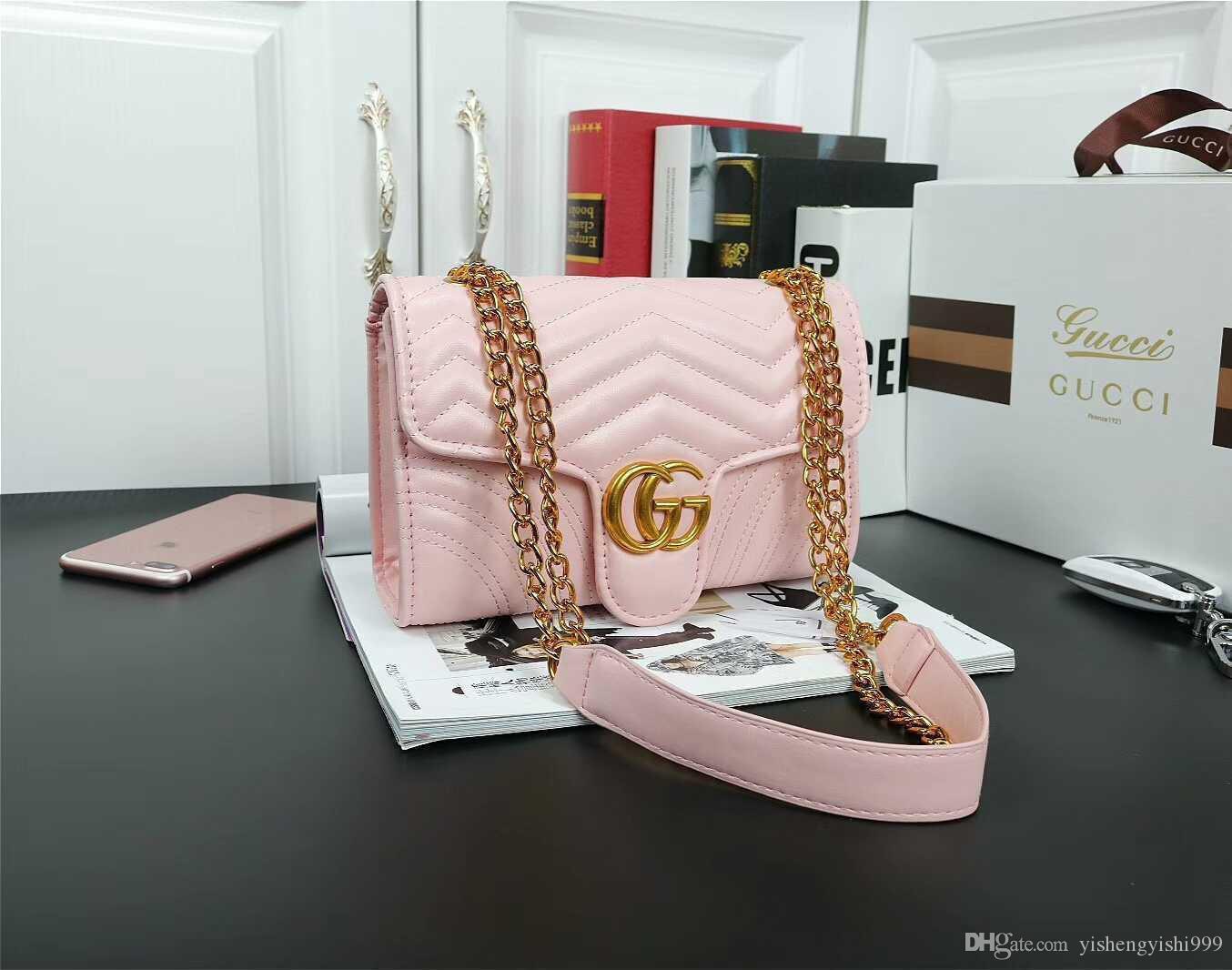 Hot Designer Handtaschen Geldbörsen Frauen Umhängetasche Schulter-Kuriertasche mit Fransen Kette Tasche Brieftasche Handtaschen Totes # 53664